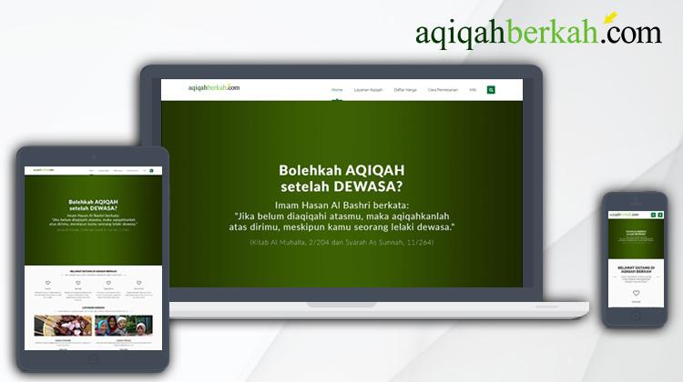 Desain Website Aqiqah Berkah